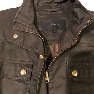 J.Crew Womens Resin-coated twill jacket